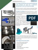 Sludge Dewatering Screw Press Szk1