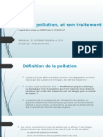 L'Eau, Sa Pollution, Et Son Traitement