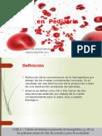 Anemia en Pediatría