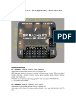 SP Racing F3 FC Board(Deluxe) Internal OSD Manual