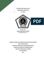Cover, Daftar Isi Dan Halaman Pengesahan Laporan PKL 2017