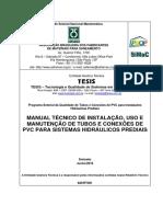 Manual Técnico Reparação Instalações Prediais de Agua - PVC