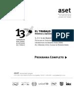 Programa del 13° Congreso de ASET