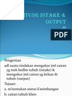 Menghitung Intake Output