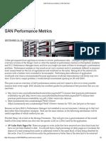 SAN Performance Metrics _ the SAN GUY
