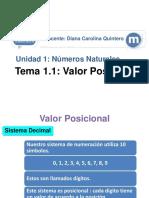 1.1 Valor Posicional