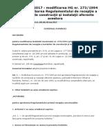 HG 343-2017 - modificarea HG 273-1994 privind aprobarea Regulamentului de receptie a lucrarilor de constructii si instalatii aferente acestora.pdf