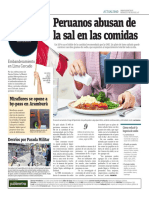 Peruanos Abusan de La Sal en Las Comidas