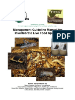 EAZA Management Guideline Manual for Invertebrate Live Food Species
