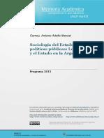 Sociología del estado y Políticas Públicas