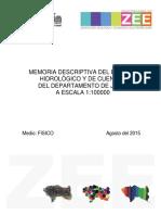 Medio Fisico - Memoria Descriptiva Hidrologia