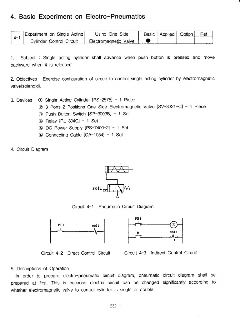Electromagnetic Circuit Diagram Percobaan 4 1 Sampai 3 Relay Valve