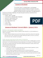 Jammu & Kashmir Current Affairs 2016 (Jan-Dec) by AffairsCloud