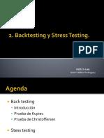 2da Clase. Stress Testing y Backtesting