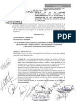 Proyecto de Ley - Imprescriptibilidad de Delitos de Corrupción