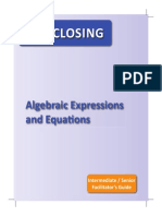 (8.5) Gap Closing - Algebraic Expressions - Very Good Diagnostic = Teacher Guide.pdf