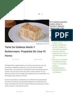 RECETA Tarta de Galletas María Sin Usar El Horno