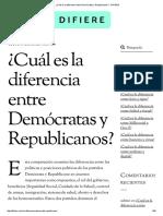 ¿Cuál Es La Diferencia Entre Demócratas y Republicanos_ - DIFIERE
