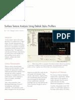 AN525-Surface Texture Analysis Using Dektak Stylus Profi