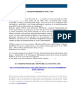 Fisco e Diritto - Corte Di Cassazione n 2803 2010