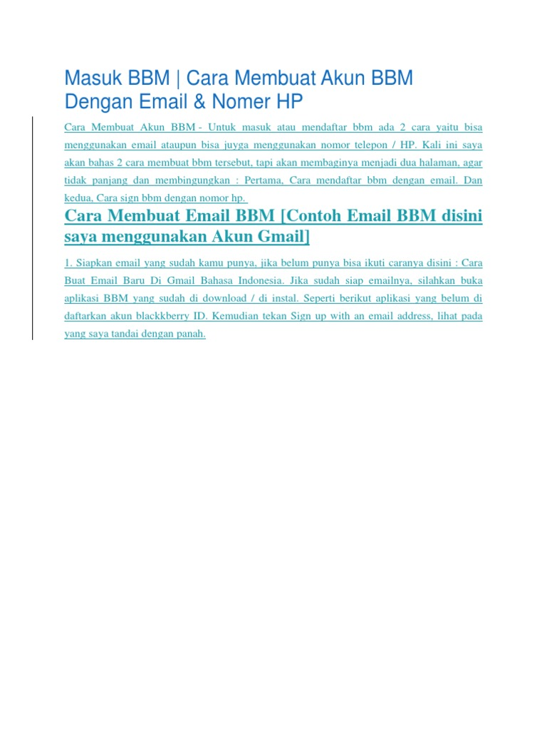Best Cara Mendaftar Di Bbm Image Collection