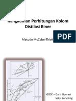 Rangkuman Metode McCabe-Thiele