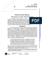 """3. DaimlerChrysler Merger - The Quest to Create """"One Company"""". Babson Case BAB‐041."""