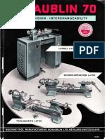 Schaublin 70 Catalogue 1962