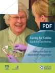 Caring for Smiles Guide for Care Homes