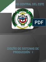 Diseño de Sistemas de Producción I-1