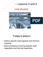 Lessons 3 and 4 Topic 3 Specific Heat Capacity