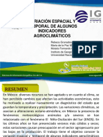 Variacion Espacial y Temporal de Indicadores Agroclimaticos IG UNAM