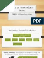 AULA 1 - Hermenêutica Judaica