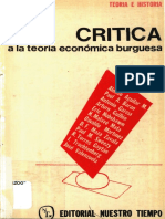 Critica Teoria Economica Burguesa