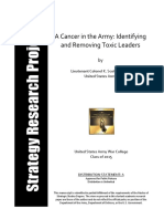 A Cancer in the Army Identifying and Removing Toxic Leaders