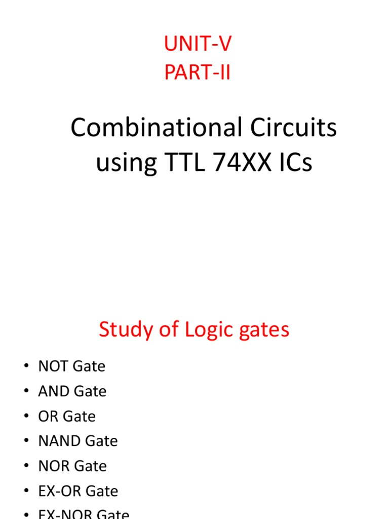 Study Of Logic Gates Gate And Diagrams