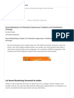 Rural Marketing_ It's Potential, Importance, Problems and Distribution Strategy