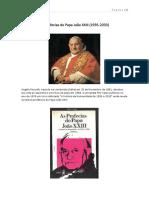 ARTIGO - As Profecias Do Papa João XXIII