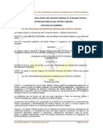 Ley Del Programa de Derechos Humanos Del Distrito Federal