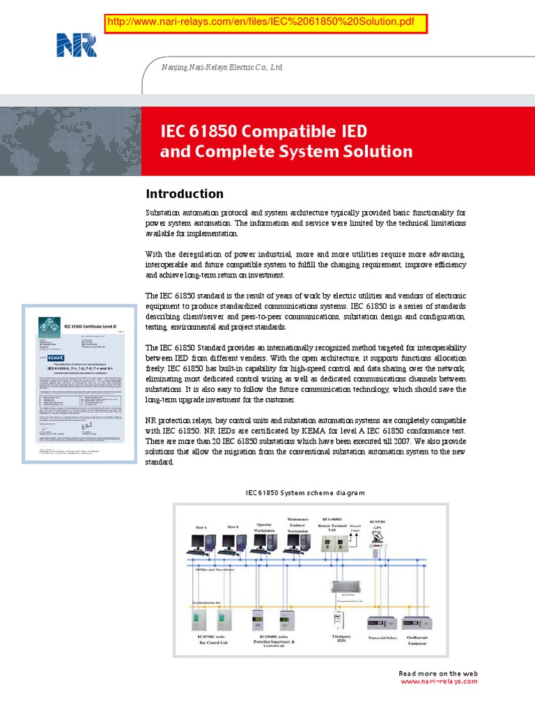 Nari Iec61850 Solutionpdf Interoperability Telecommunication Lang Wiring Diagram