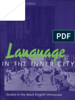 LABOV Language in the Inner City Studies in the Black English Vernacular