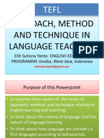 Approach Method Technique in Language Te