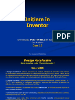 Initiere in Inventor - Curs 13