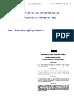 ARANCEL DE LOS PRODUCTOS Y SERVICIOS CATASTRALES PRESTADOS POR LA DIRECCIÓN DE CATASTRO Y ADMINISTRACIÓN DEL IMPUESTO ÚNICO SOBRE INMUEBLES DE LA MUNICIPALIDAD DE GUATEMALA ACUERDO COM-08-2017