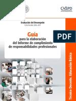 Guia Tecnica Para La Elaboracion Del Informe de Responsabilidades Docentes