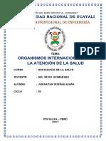 MONOGRAFÍA ENFERMERÍA UNU - ORGANISMOS INTERNACIONALES EN LA ATENCIÓN DE LA SALUD.docx