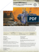 Datasheet Space Marine HQ Command Tanks