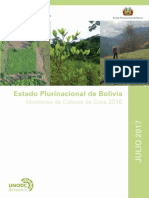Informe de Monitoreo de Cultivos de Coca 2016