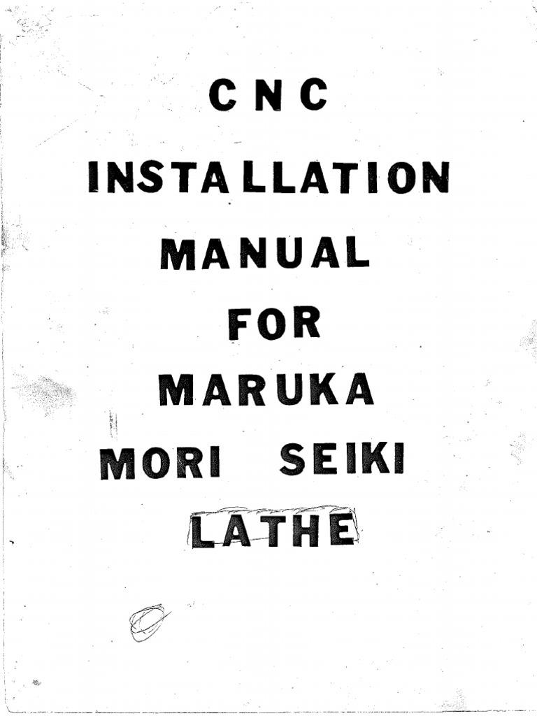 MANUAL TORNO CNC MORI SEIKI SL-2
