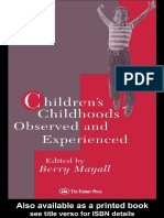 Berry Mayall - Children's Childhoods Observed and Experienced